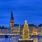 Alster Hamburg Weihnachtsbaum