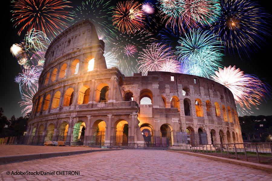 Feuerwerk Rom Kolosseum