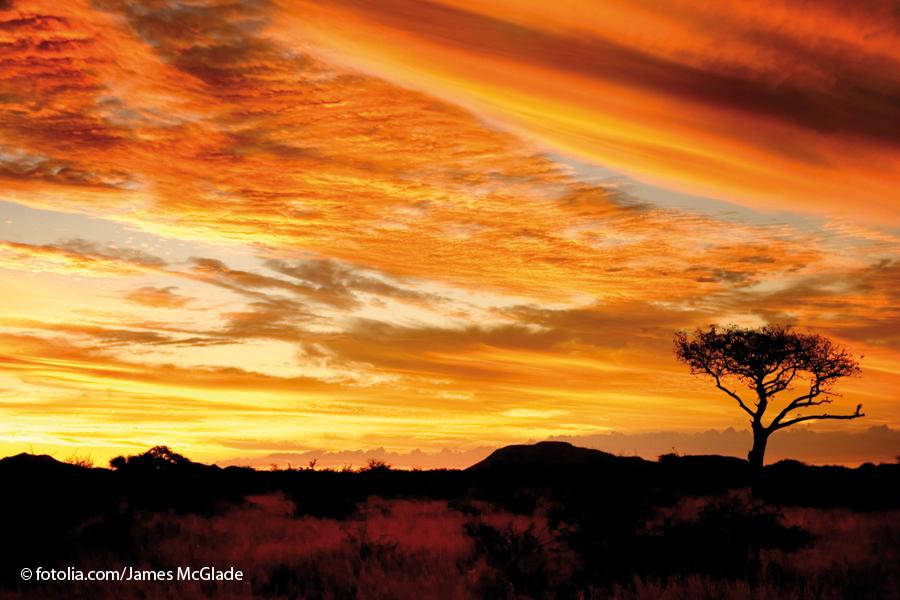 Sonnenutergang Südafrika