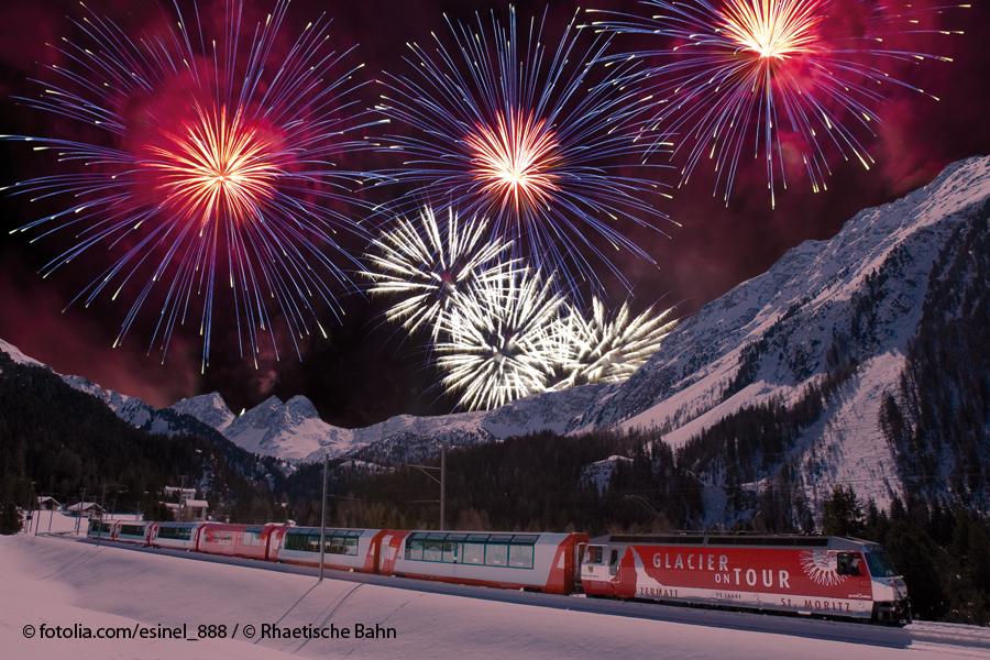 Feuerwerk Glacier Express